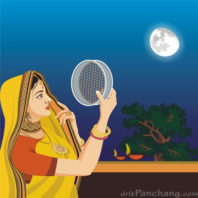 karva chauth sketches - Google Search