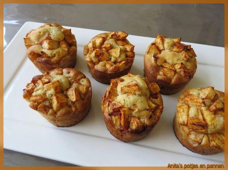 Anita's potjes en pannen: Spelt-cakejes met appel en peer