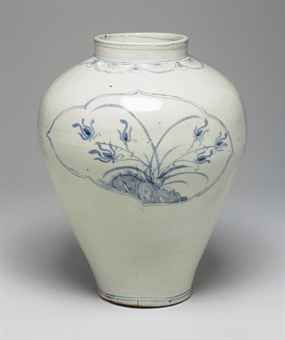 Large Blue and White Porcelain Jar, Joseon dynasty (18th-19th century)