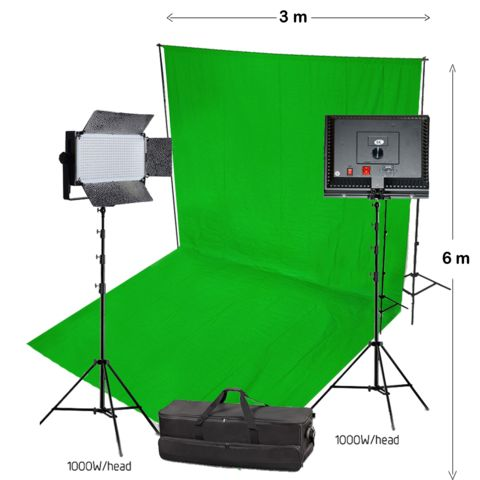 Many photographers have painted a wall in their studio green and position subjects in front of the green wall.
