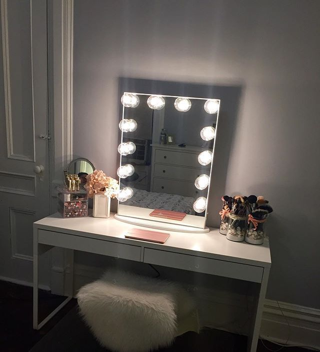 Simply Stunning Vanity Station From @blushbeauty_k Featuring Our  #ImpressionsVanityGlowXL · College RoomStorage ClosetsMakeup ...