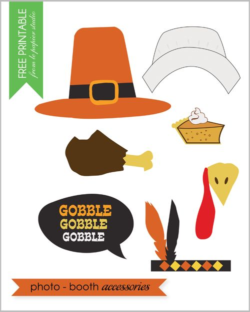 Free printable #thanksgiving #photo props by @Vana of Le Papier Studio for #thepartydressmagazine