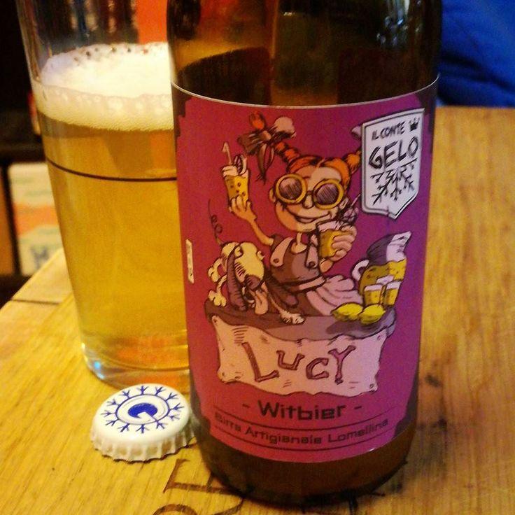 Lucy witbier di Conte Gelo. . . . . #birraartigianale #birra #cerveza #bier #biere #cerveja #pivo #beerporn #instabeer #cervejaartesanal #breja #beergeek #beerstagram #piwo #beerlover #øl #instacerveja #beeroftheday #beer #craftbeer #cervejaespecial #beergram #ilovebeer #instabeer #instapic #picoftheday #pintamedicea #firenzebirra