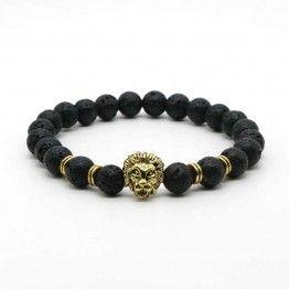 Black Lava Stone Buddha Bracelet