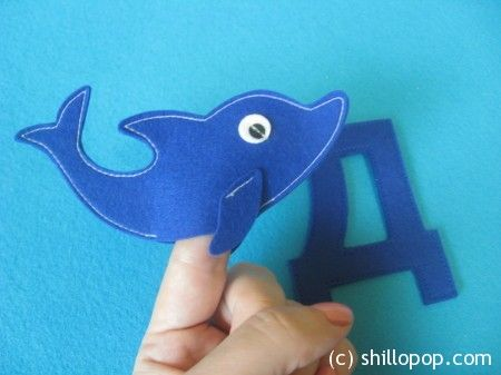 Дельфин пальчиковая игрушка Азбука из фетра алфавит выкройки
