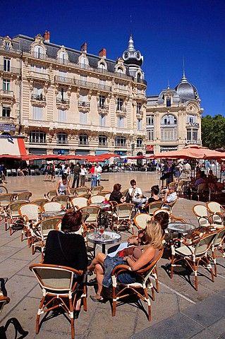 Place de la Comedie, Montpellier, Languedoc, France.