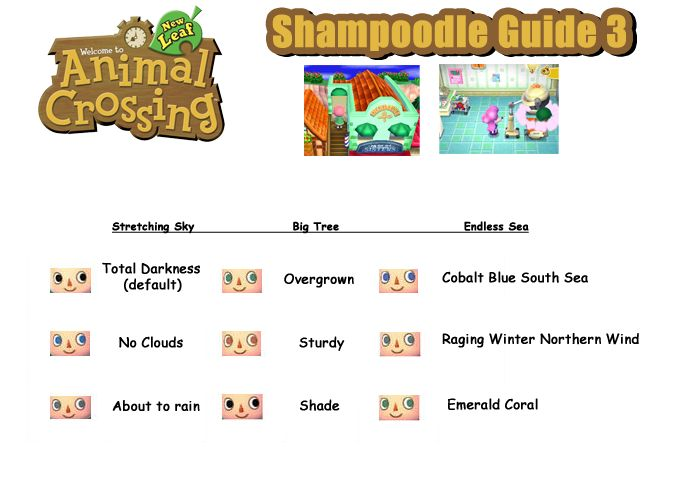 Animal Crossing New Leaf Eye Guide 34 Best Guides Tipps Images On Shampoodle Hair Color