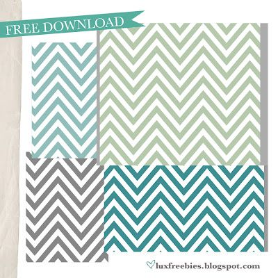 FREE Chevron downloads in Every Shade!