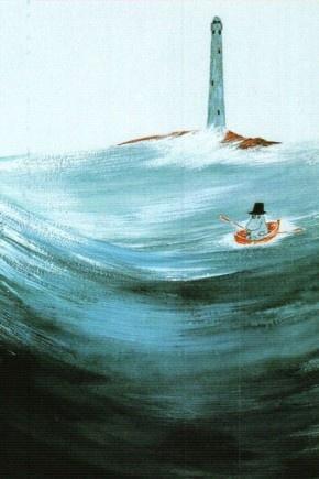 Tove Jansson - Moominpappa at Sea postcard via Kiosk Mamymuminka (Moomin PL)
