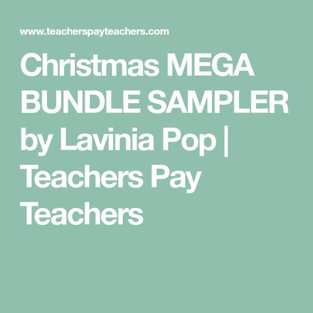Christmas MEGA BUNDLE SAMPLER by Lavinia Pop | Teachers Pay Teachers