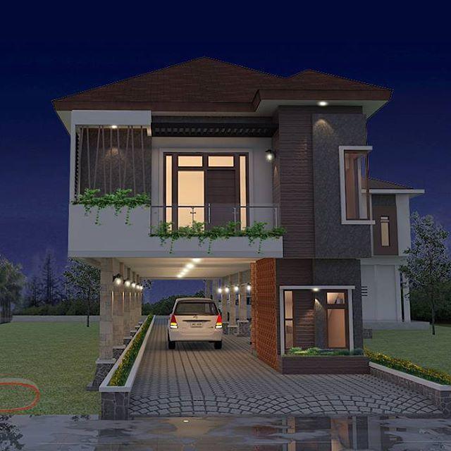 Guest house Location: Pontianak, West Borneo Design by: Vip Studio #house #design #architecture #architect #vipstudio #pontianak