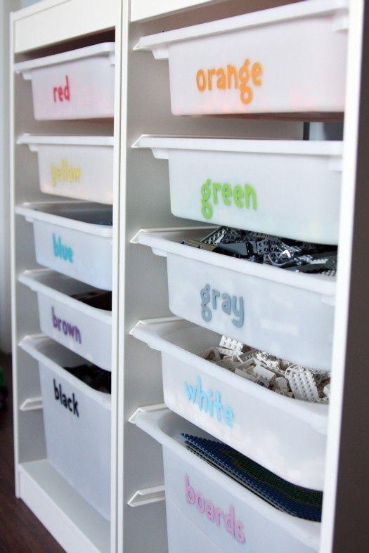 Lego organization - Ikea shelf. Easy AND inexpensive!