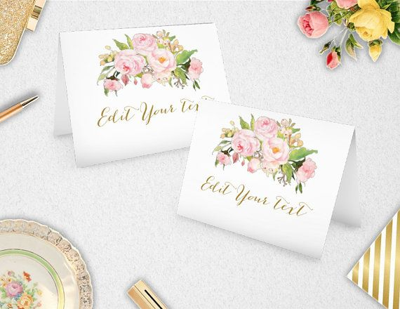 Editable Place Cards / Food Labels   INSTANT by PaperBearPrintable