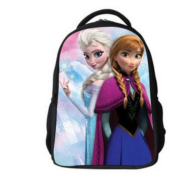 Kid Bag Children Schoolbag Snow queen Backpack Boys Girls School Bags Kids Sofia Backpack Shoulder Bag Mochila Infantil