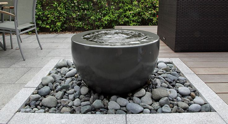 contemporary water-bowl fountain | rosemarycoldstream UK