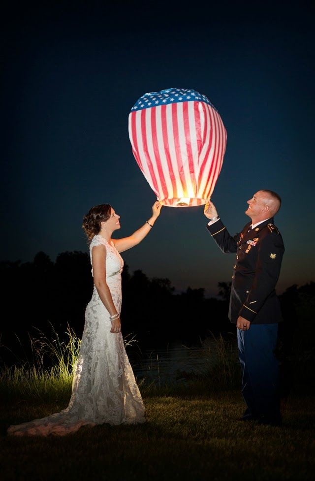 A Military Story: Real Wedding Balloon Release