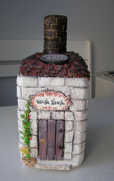 Dekorative Flasche | Seiten in der Kategorie dekorativen Flaschen | Vdohnovlyalochka Marrietty: Liveinternet - Russian Service Online-Tagebuch /  Imitation aus Mauerwerk auf der Flasche