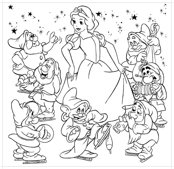 95 best Hobby colouring pages Snow White 7 dwarfs images on
