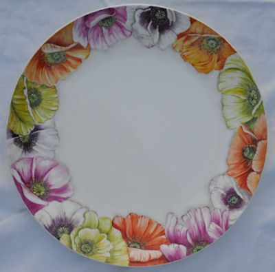 Anneke Nijmeijer - handbeschilderd porselein - bord bloemen