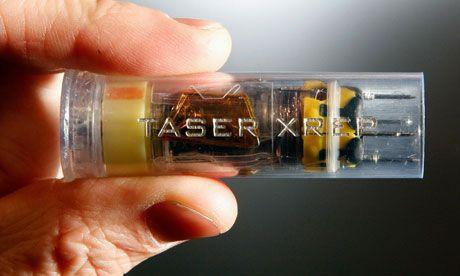 Taser's XREP wireless shocking projectile 12-gauge equivalent