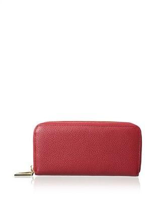 61% OFF Zenith Women's Double Zip Wallet, Red