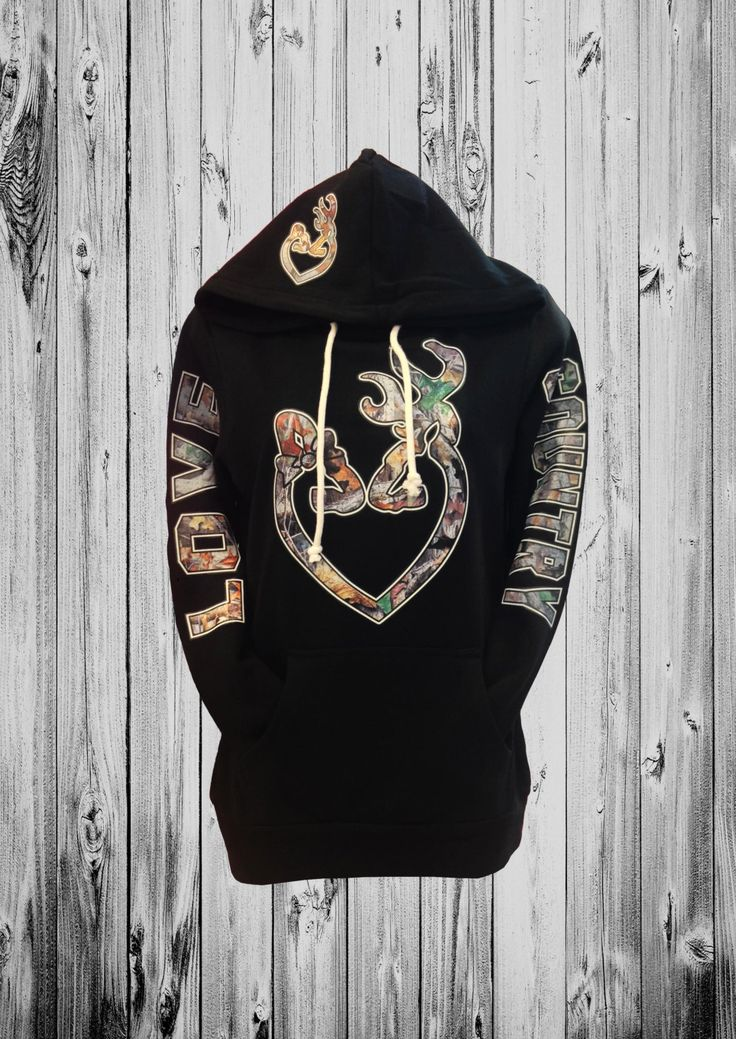 Love Country Camo Heart Hoodie by calicustom530 on Etsy
