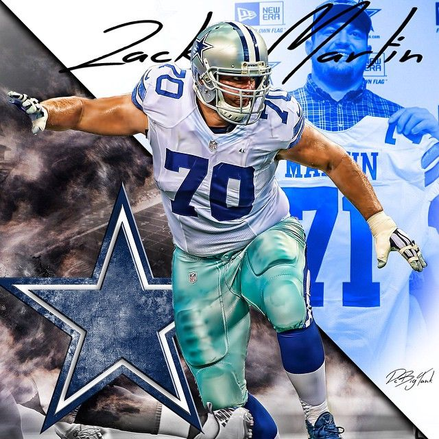 Zack Martin #70  IRVING, Texas -  As the Cowboys enter the playoffs for the first time in 5 years, they will do so with the most players from one team on this year's All-Pro team, announced by The Associated Press. The Cowboys have a league-high 4 players, including guard Zack Martin, who becomes the first Cowboys rookie to be named All-Pro in 45 years. Also earning their first All-Pro selections were RB DeMarco Murray, WR Dez Bryant and OT Tyron Smith. #Dallas #Cowboys #DallasCowboys #NFL…