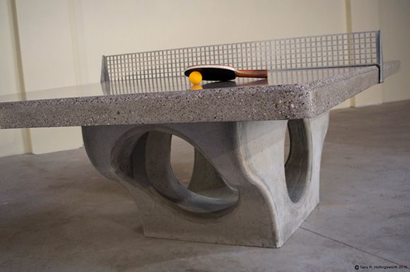 concrete outdoor ping-pong table @likecool.com  sososophisticated
