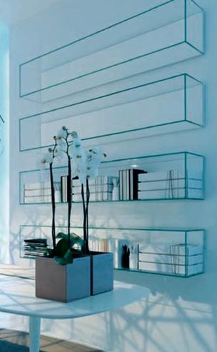 acrylic shelving