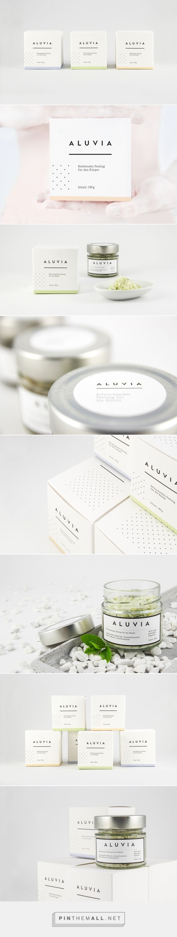 Aluvia // Aluvia is a purely fictional concept for high-quality, hand-crafted, natural exfoliants for the body.