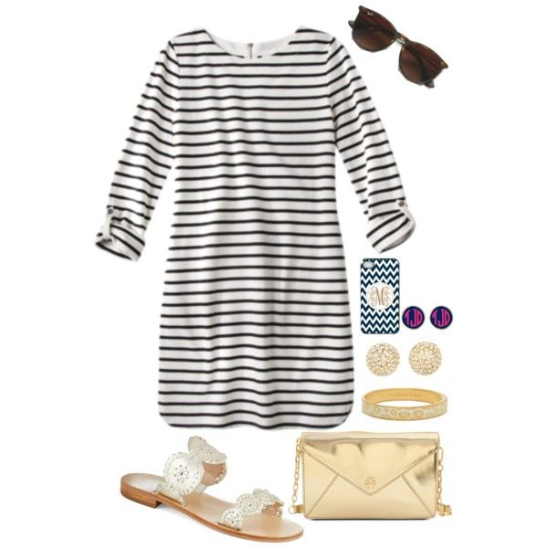 A fashion look from June 2014 featuring Jack Rogers sandals, Tory Burch clutches and Michael Kors earrings. Browse and shop related looks.