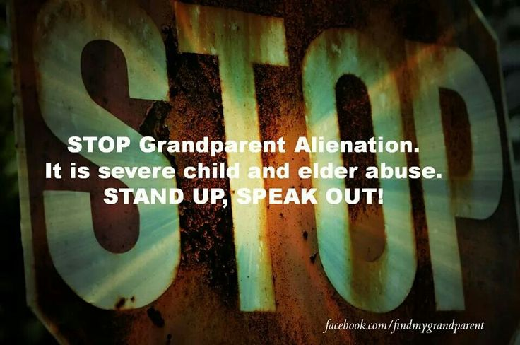 how to stop a grandparent disrespecting their grandchildren