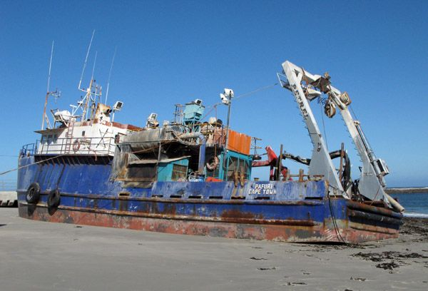 Shipwreck at Port Nolloth, South Africa