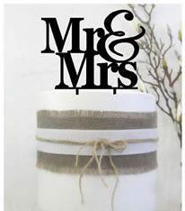Cake signs, toppers and plaques  -  Mr&Mrs