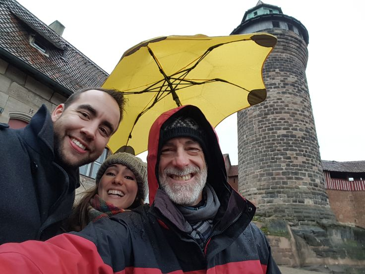 Nuremberg Tours in English with #HappyTourCustomers with Sinwell Tower in the background