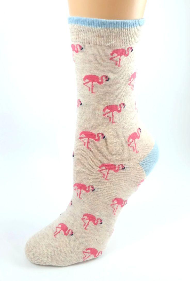 Socks Flamingo Mingle Print Socks Socks, Fancy