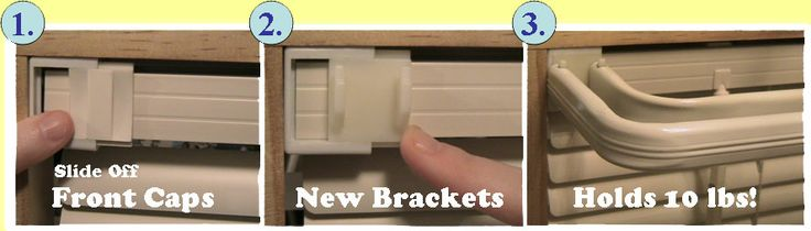 Cool! curtain rod bracket fits on your mini blinds. No nails or holes in wall.  Wish I had thought of it!
