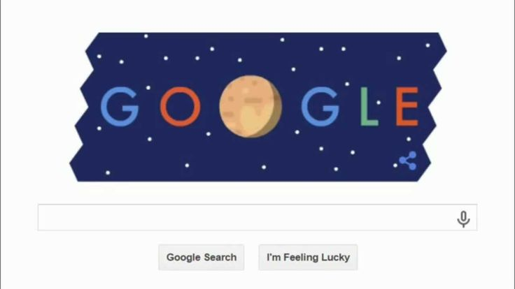 Google Doodle New Horizons Pluto Flyby - Video Animation