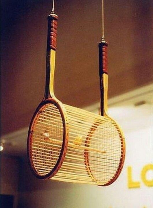 Tennis racket bird cage Visit and Like our Facebook Page https://www.facebook.com/pages/Rustic-Farmhouse-Decor/636679889706127