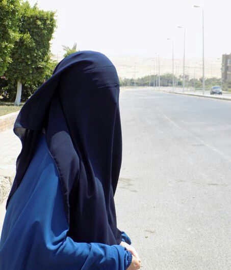 Niqabi Crossing the Street