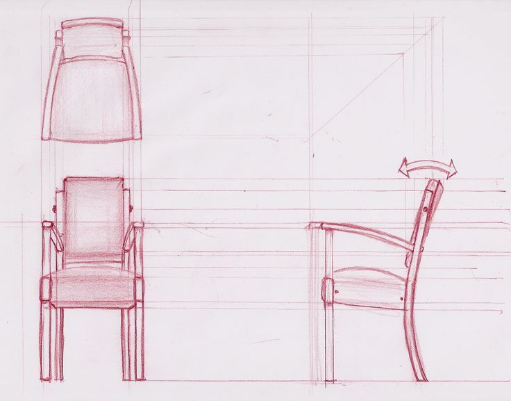 orthographics of furniture