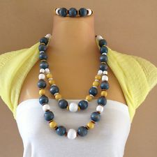 Image result for wooden bead necklace australia
