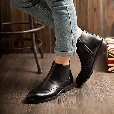 Brogue Chelsea Boots (3 Colors)  #TakeClothe #Mensfashion #Fashion #Streetstyle #Shoes