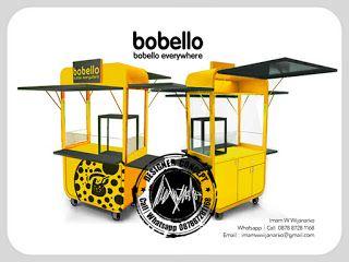 Desain Logo | Logo Kuliner |  Desain Gerobak | Jasa Desain dan Produksi Gerobak | Branding: Desain Gerobak Bobello