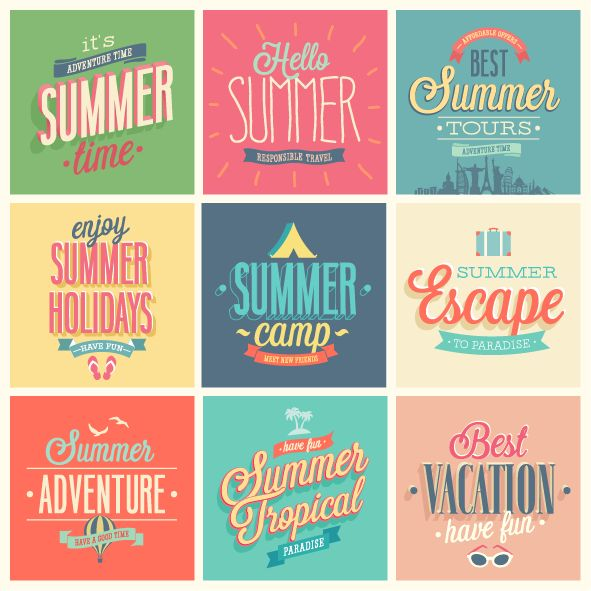 Badge summer travel vector by Oh! Freebie, via Behance
