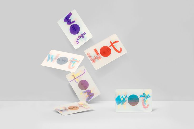 Wave Of Tomorrow (WOT) identity. Lenticular printed cards. Design by Stephan Lerou.