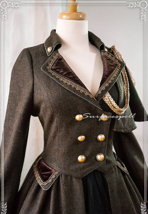 Surface Spell -Glorious Knight- One Shoulder Cape Military Lolita Winter Coat