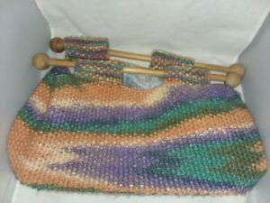 knitting bag wooden handles