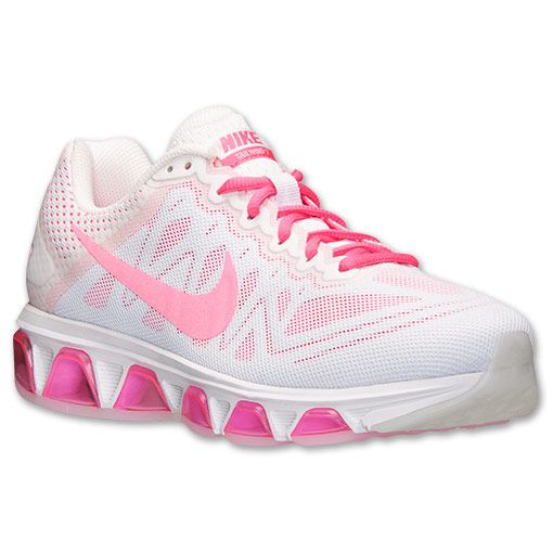 white nike air with pink swoosh