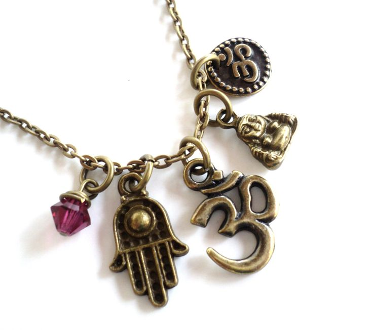 Om Necklace Hamsa Yoga Jewelry Namaste Bohemian Etsy Buddha Jewelry Valentines Mothers Day Earthy Unique Gift For Her Under 30 Item T68 by BohemianEarthDesigns on Etsy https://www.etsy.com/listing/120290763/om-necklace-hamsa-yoga-jewelry-namaste